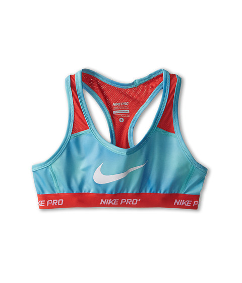 Nike Kids - YA Hypercool AOP Bra (Little Kids/Big Kids) (Artisan Teal/Daring Red/Daring Red/White) Girl's Bra