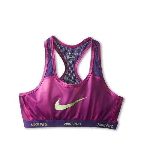 Nike Kids - YA Hypercool AOP Bra (Little Kids/Big Kids) (Fuchsia Flash/Court Purple/Key Lime) Girl