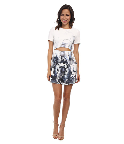 StyleStalker - Maya Circle Dress (Paint Print) Women's Dress