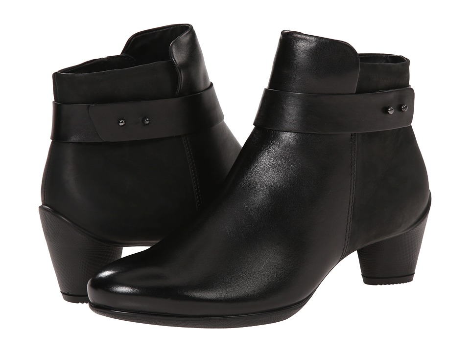 ECCO Sculptured 45 Ankle Boot (Black/Black) Women