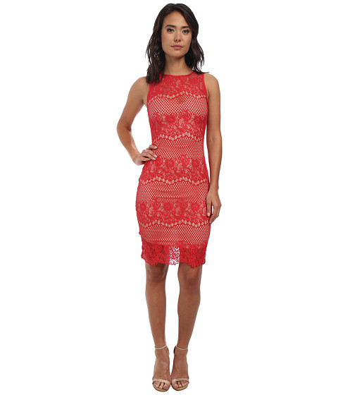 StyleStalker - Elliot Bodycon Dress (Rose Red) Women's Dress