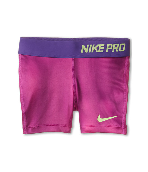 Nike Kids - Pro 3 AOP Short (Little Kids/Big Kids) (Fuchsia Flash/Court Purple/Key Lime) Girl's Shorts