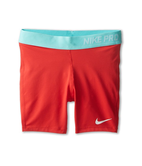Nike Kids - Pro Boy Short (Little Kids/Big Kids) (Daring Red/Artisan Teal/White) Girl