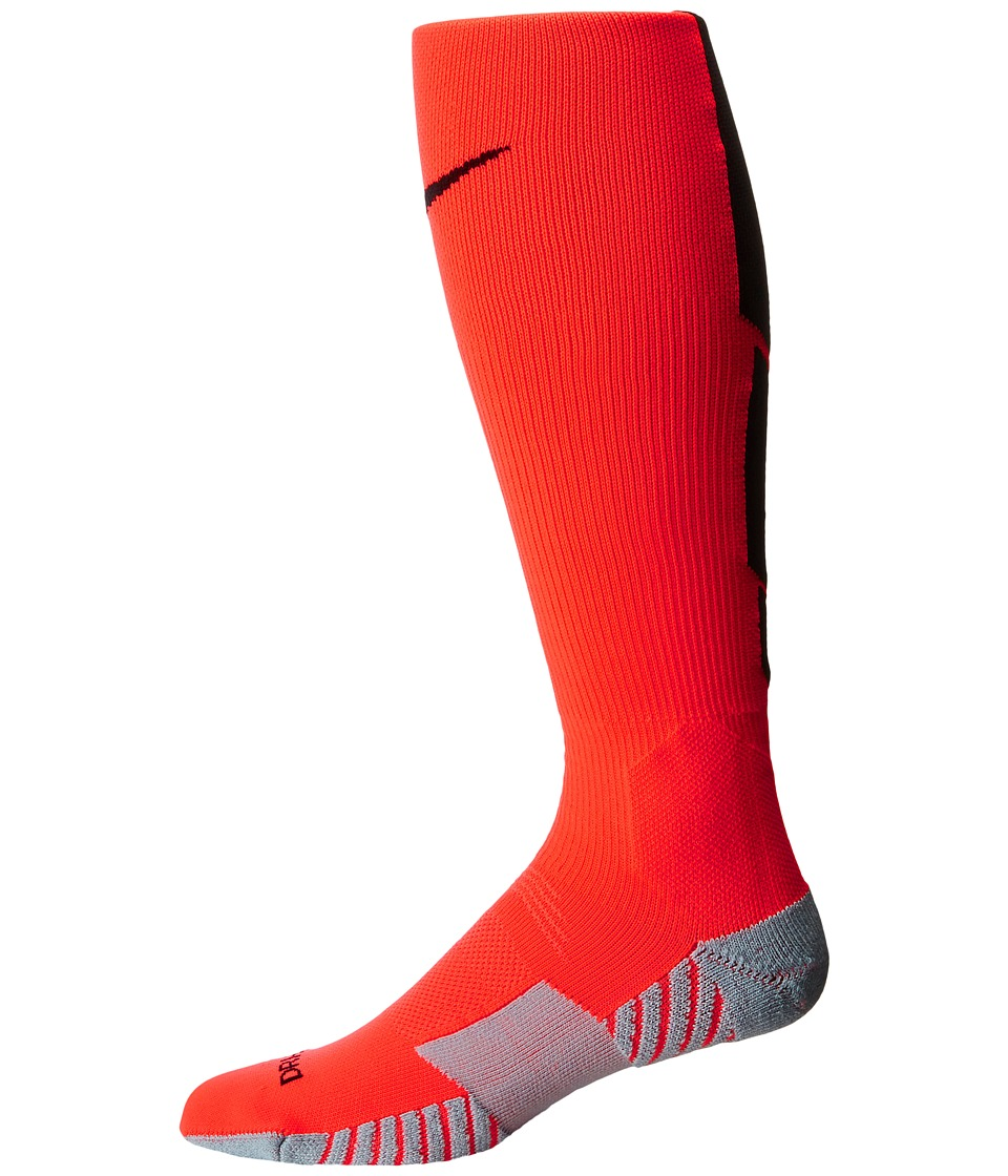 Nike - Stadium Soccer Over The Calf (Bright Crimson/Wolf Grey/Black/Black) Knee High Socks Shoes