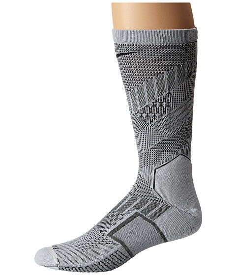 Nike - Elite Match Fit Soccer Crew (White/Black/Black) Crew Cut Socks Shoes
