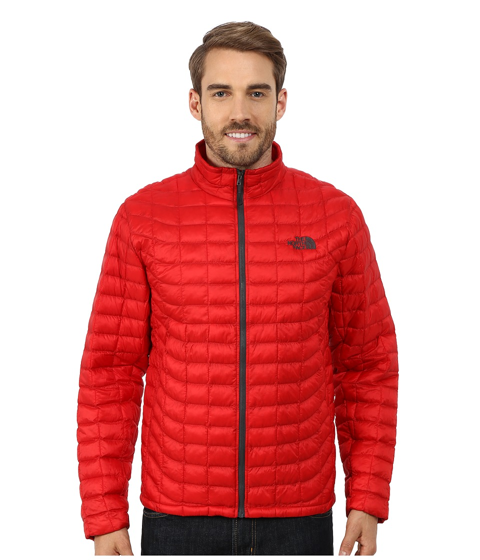The North Face - ThermoBall Full Zip Jacket (TNF Red/Asphalt Grey) Men's Coat