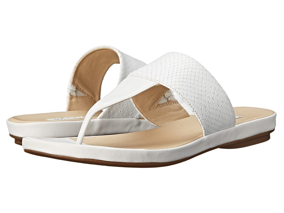 ECCO - Tabora 15 Strap Thong (White/White) Women's Sandals