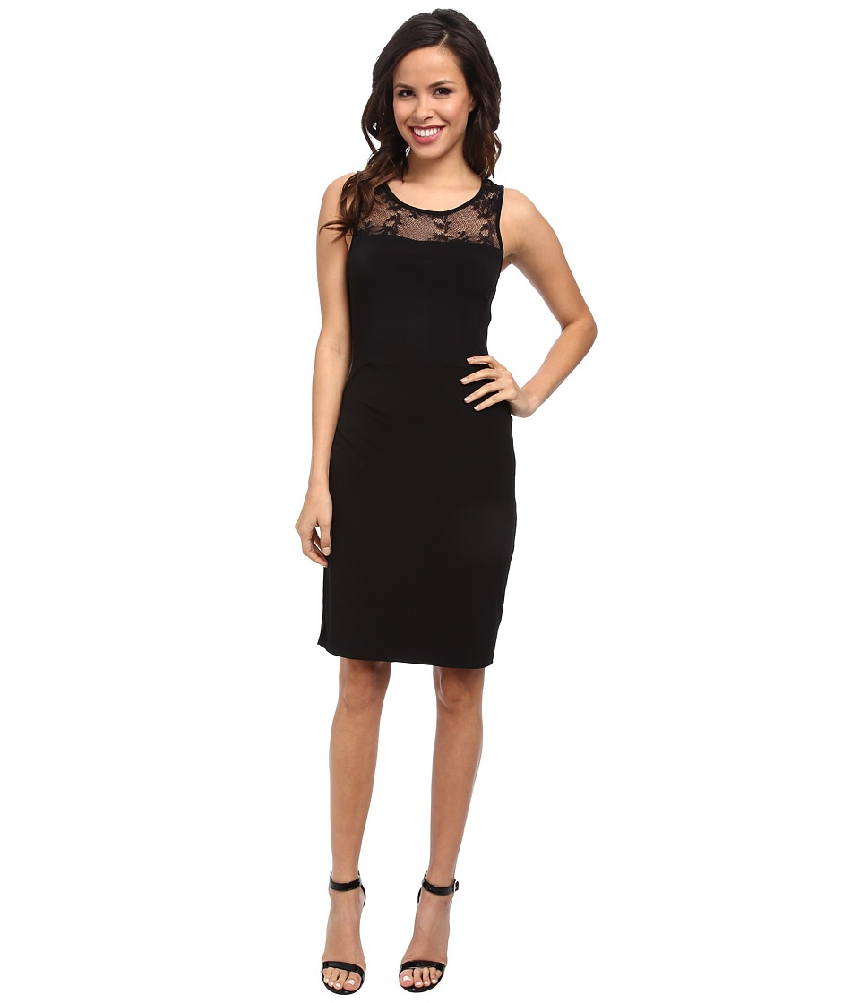 Velvet by Graham & Spencer - KITO02 Round Neck Tank Dress (Black) Women's Dress