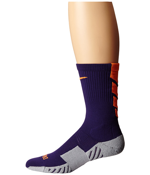 Nike - Stadium Soccer Crew (Ink/Wolf Grey/Total Orange/Total Orange) Crew Cut Socks Shoes