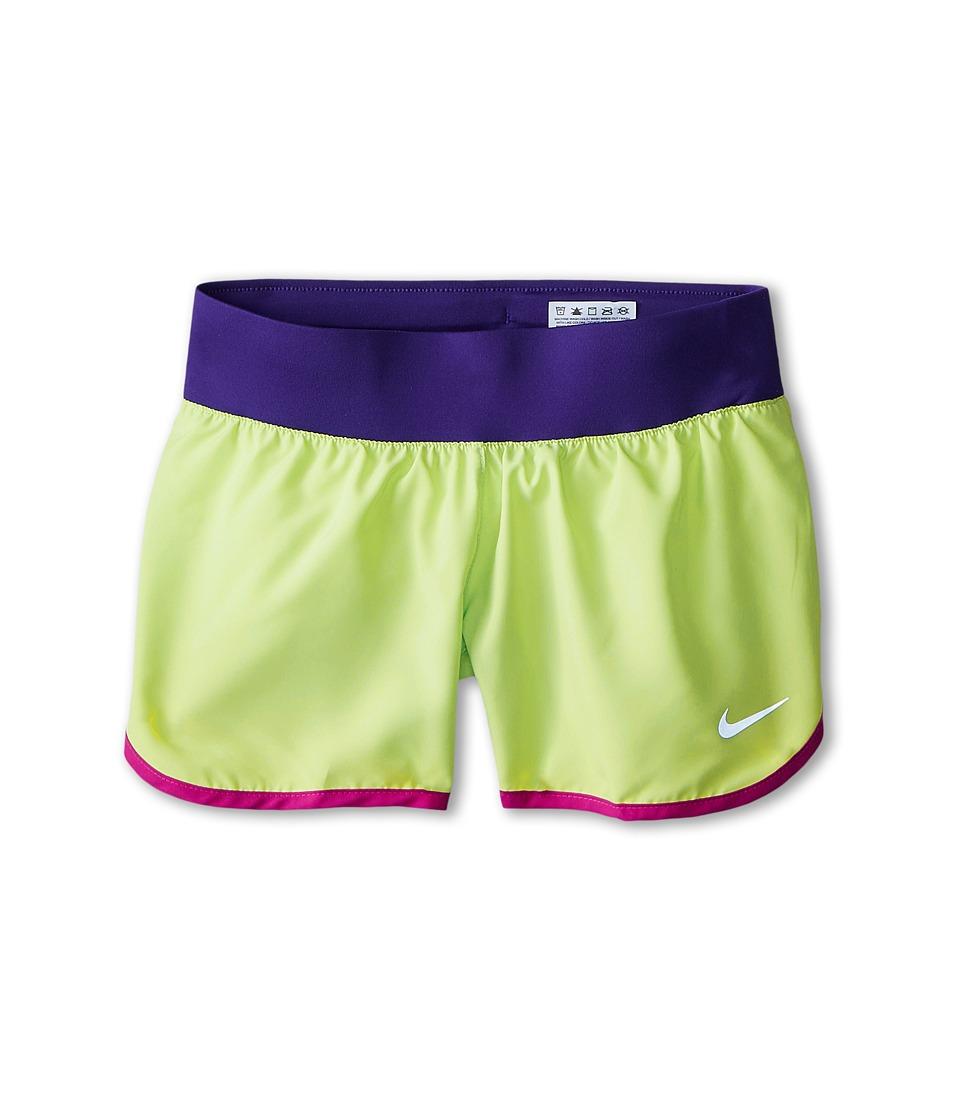 Nike Kids - Tempo Rival Short (Little Kids/Big Kids) (Key Lime/Court Purple/Reflective Silver) Girl