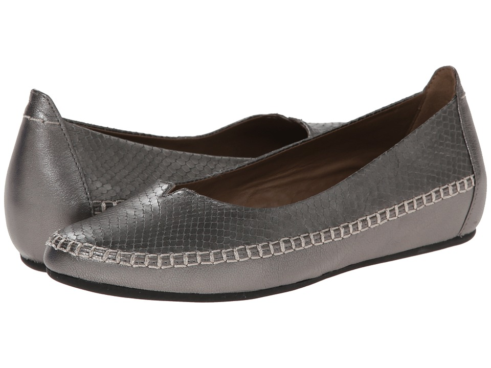 ECCO - Acari Ballerina (Warm Grey Metallic/Warm Grey Metallic) Women's Slip on Shoes
