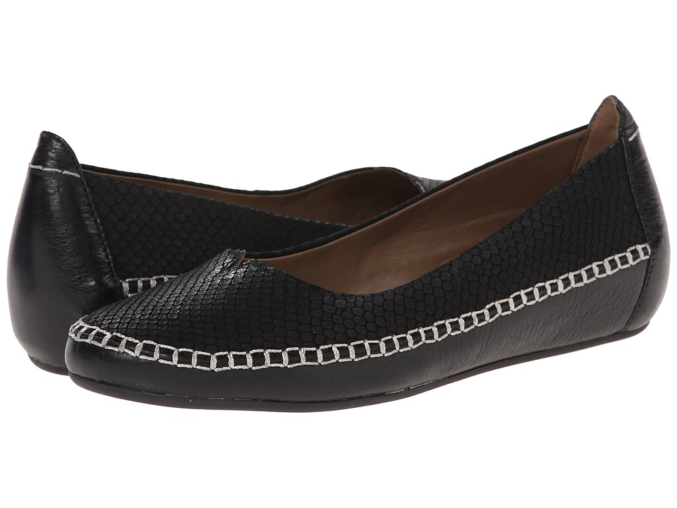ECCO - Acari Ballerina (Black/Black) Women's Slip on Shoes