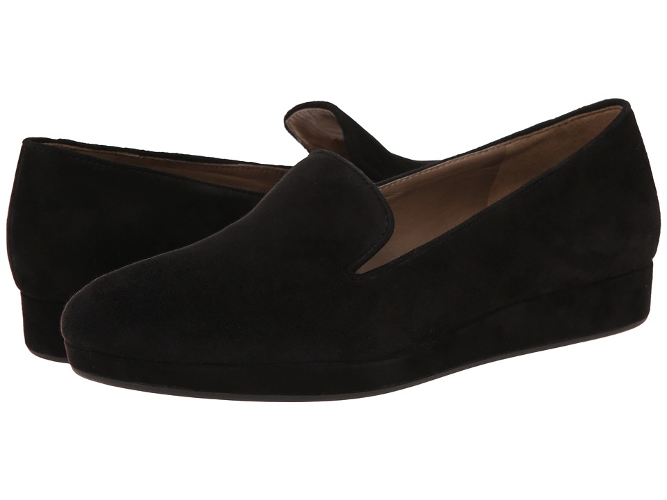 ECCO - Auckland Loafer (Black) Women's Slip on Shoes