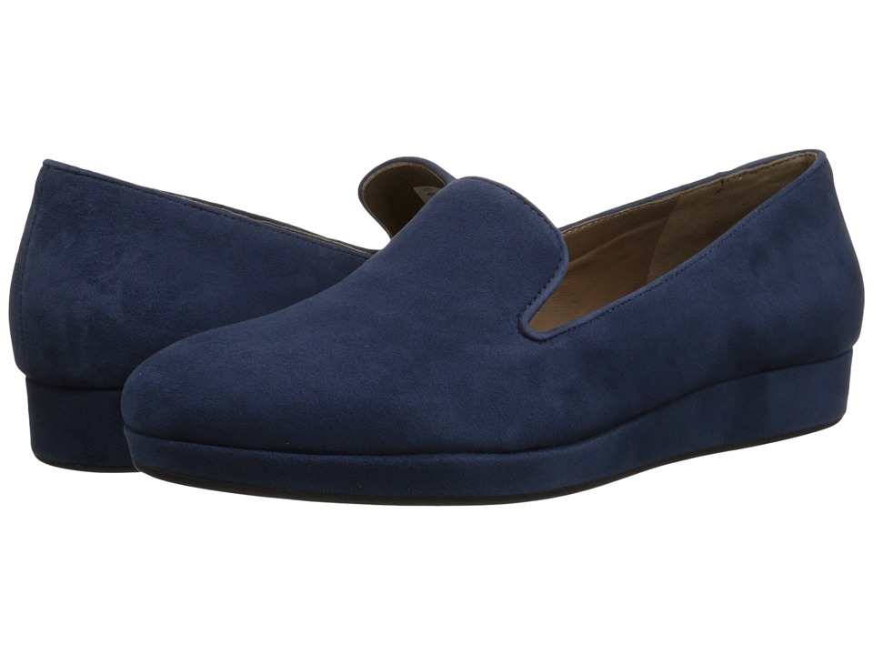 ECCO - Auckland Loafer (True Navy) Women's Slip on Shoes