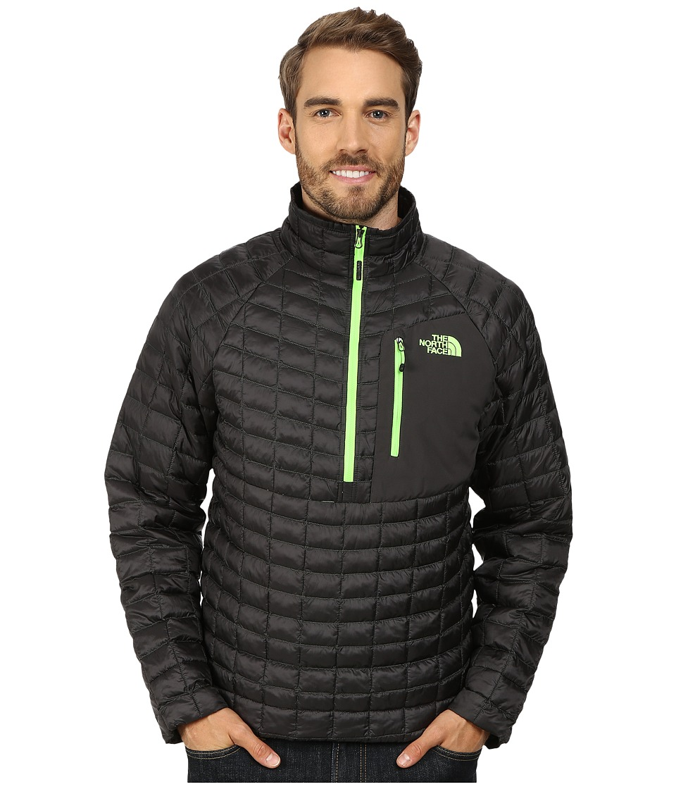 The North Face ThermoBall Pullover (Asphalt Grey/Power Green) Men