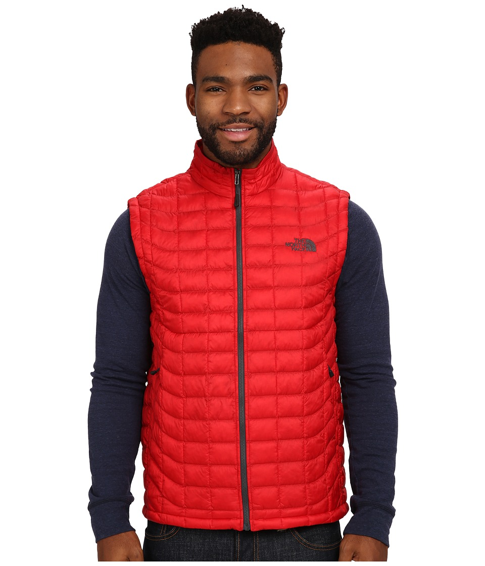 The North Face - ThermoBall Vest (TNF Red/Asphalt Grey) Men's Vest