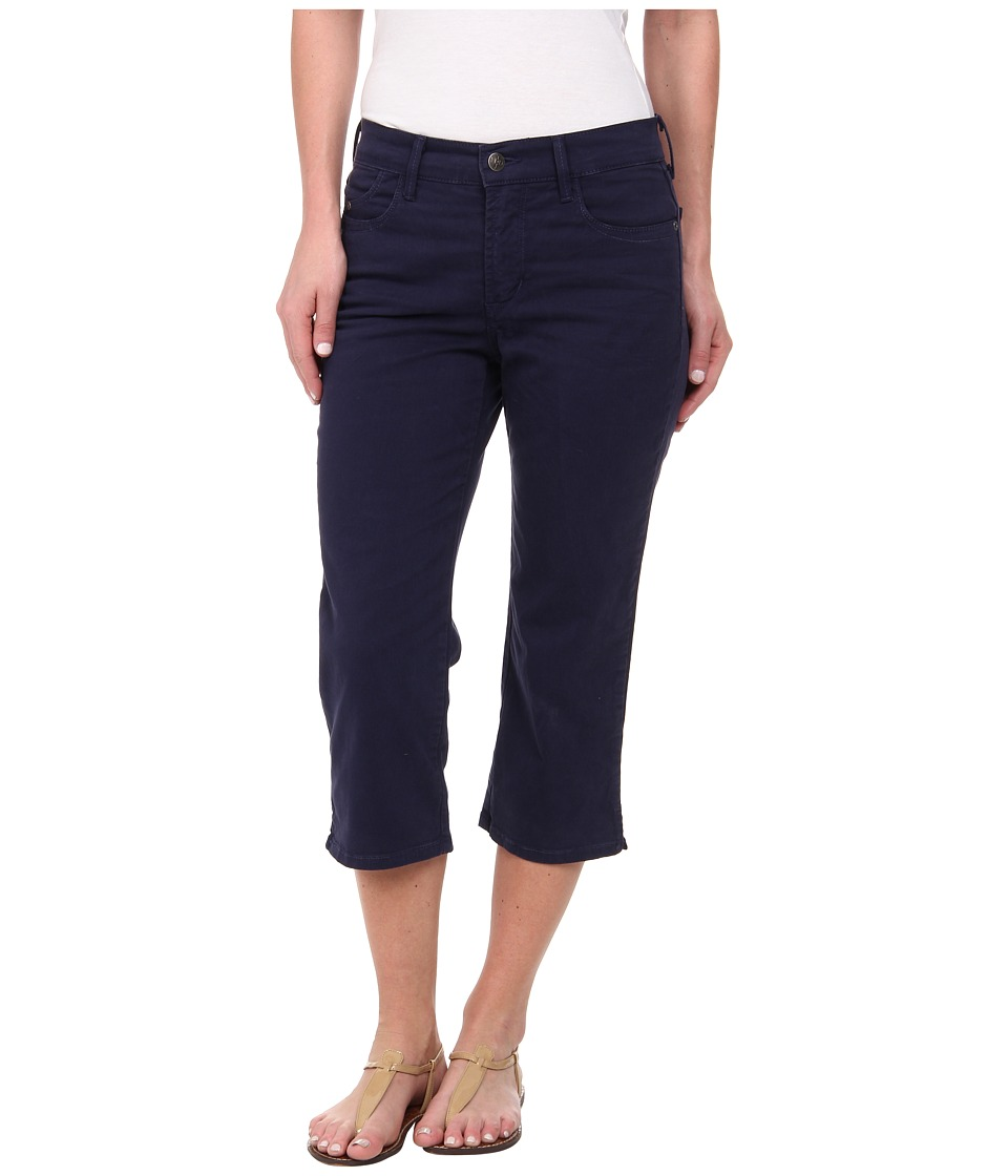 NYDJ - Ariel Crop - Twill (Oxford Blue) Women's Casual Pants
