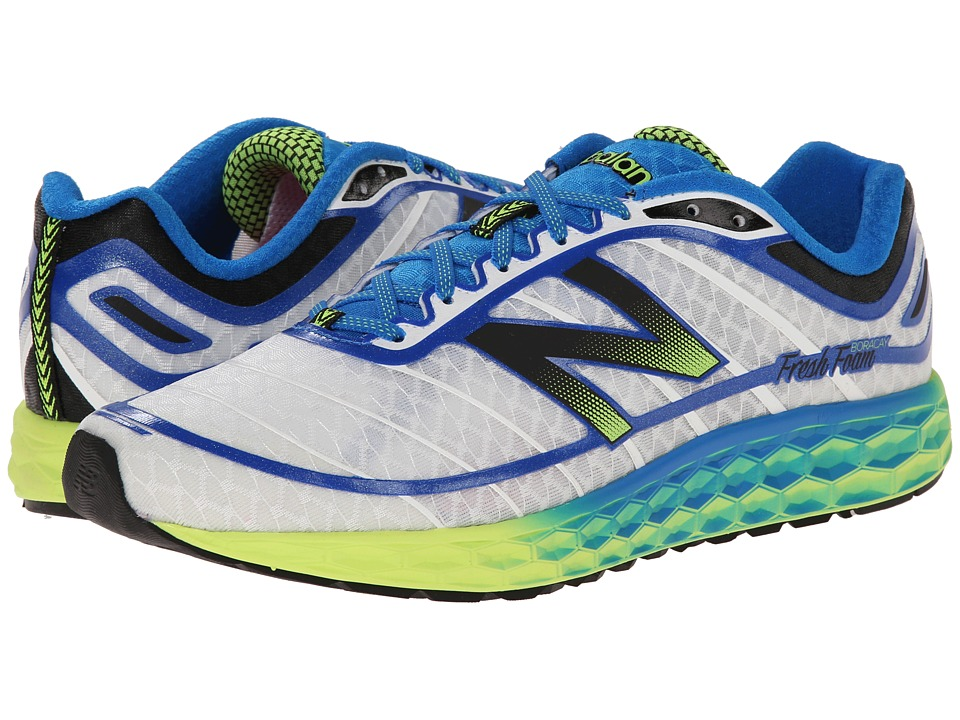 New Balance - Fresh Foam Boracay (White/Blue) Men's Running Shoes