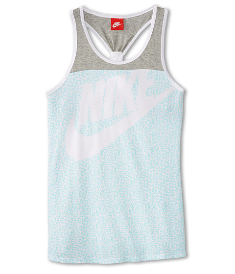 Nike Kids - HBR AOP J Tank (Little Kids/Big Kids) (White/Dark Grey Heather) Girl's Sleeveless
