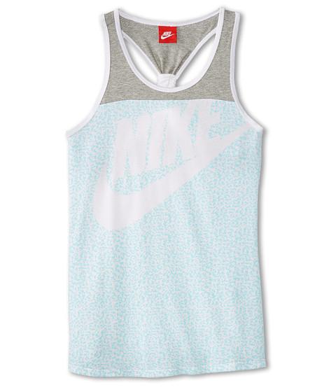 Nike Kids - HBR AOP J Tank (Little Kids/Big Kids) (White/Dark Grey Heather) Girl's Sleeveless