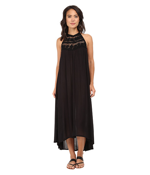 Billabong - Among the Stars Halter Dress (Off Black) Women