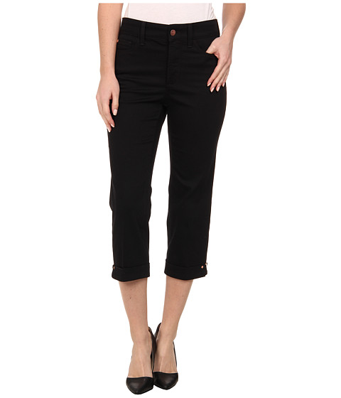 NYDJ - Ariel Crop - Hem Novelty Clasp (Black) Women