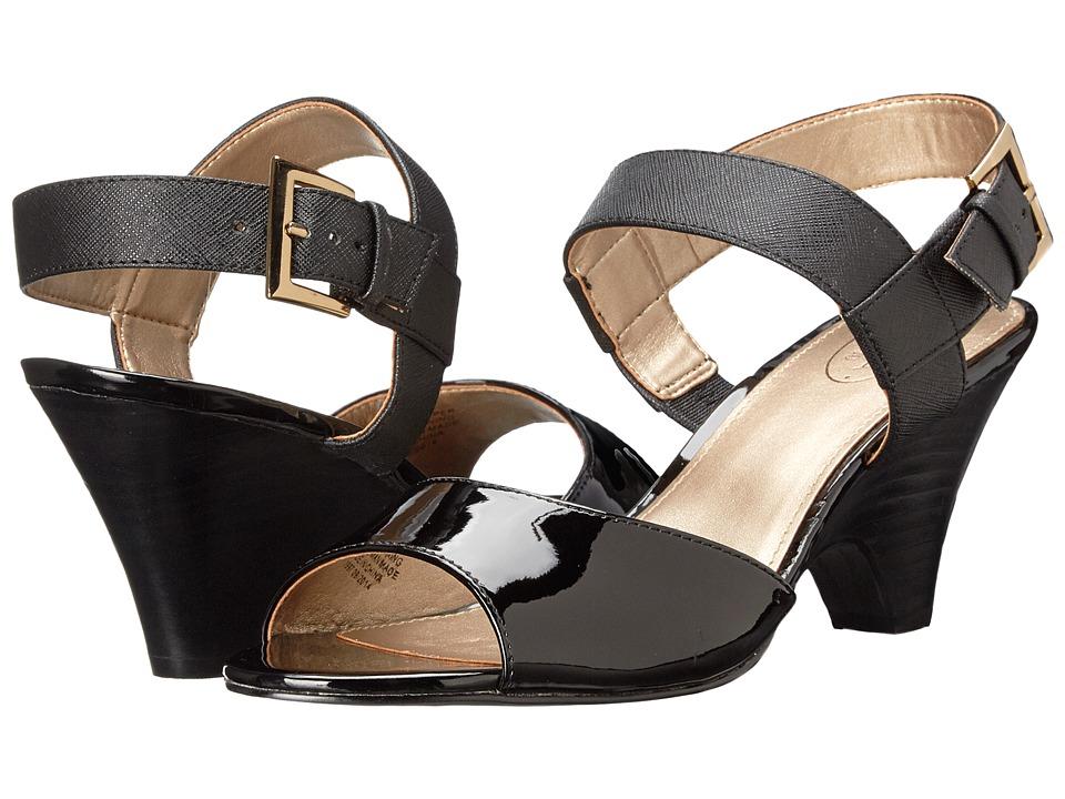 Circa Joan & David - Naylor (Black Leather) High Heels