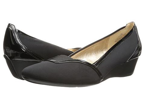 Circa Joan & David - Yevella (Black Fabric) Women's Wedge Shoes