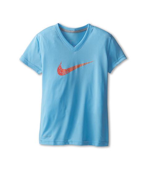 Nike Kids - Leg Confetti GFX Tee (Little Kids/Big Kids) (Lakeside/Dark Grey Heather) Girl's T Shirt