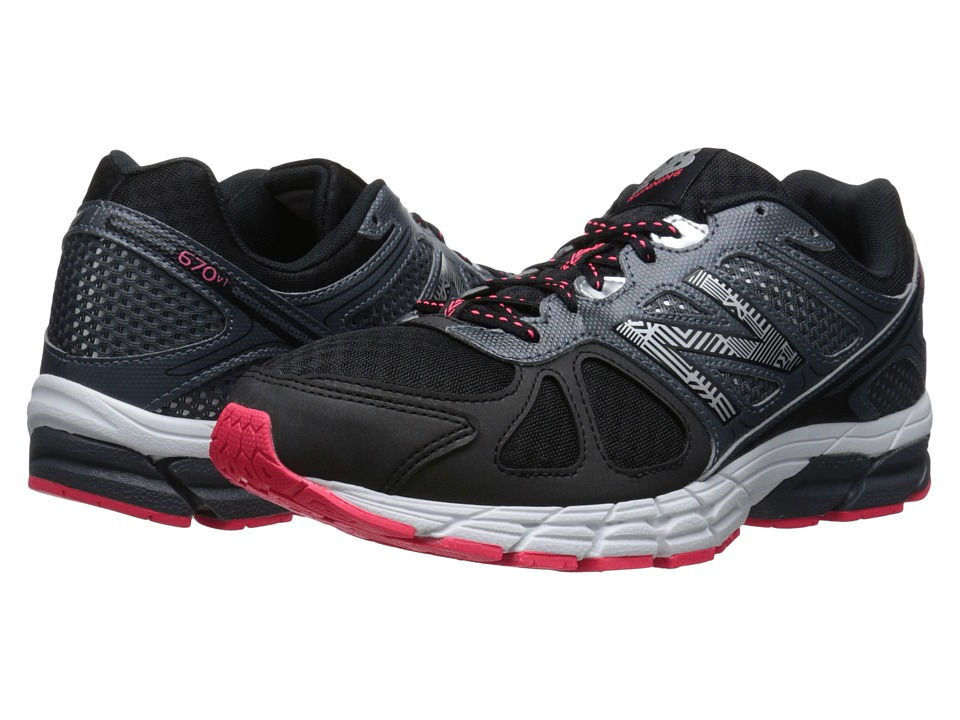 New Balance - 670v1 (Black/Bright Cherry) Men's Running Shoes