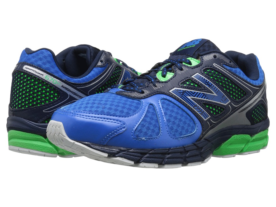 New Balance - 670v1 (Electric Blue/Acidic) Men's Running Shoes