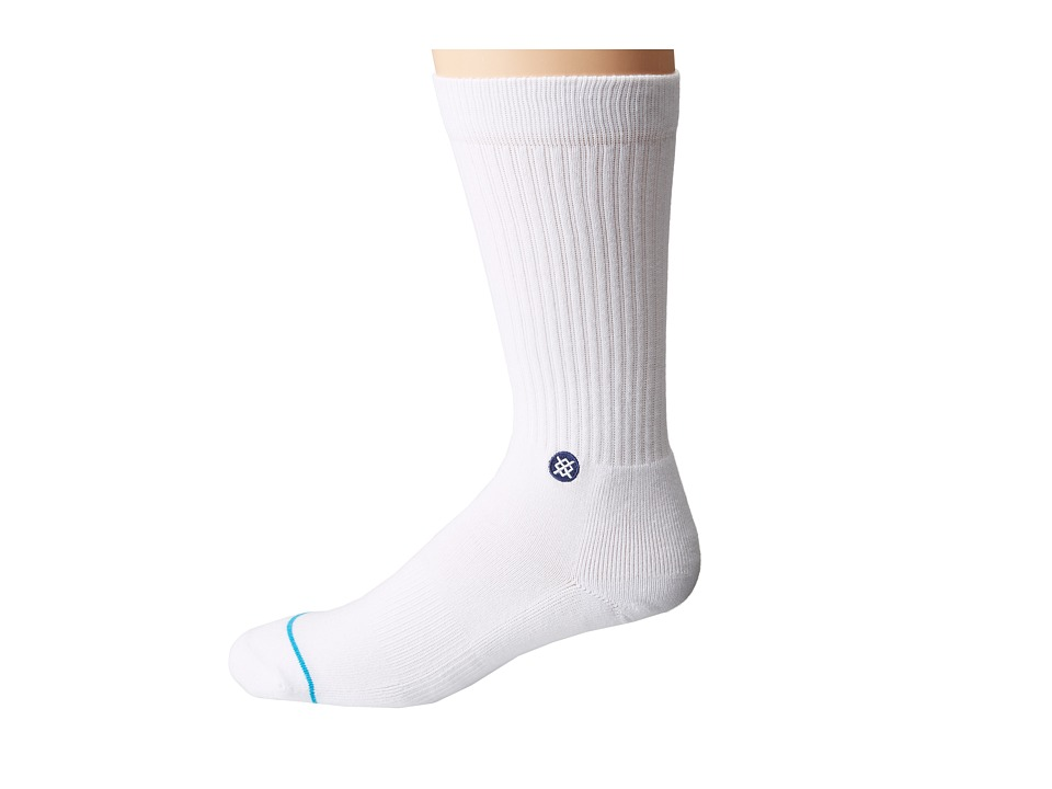 Stance - Icon (White/Navy) Men's Crew Cut Socks Shoes