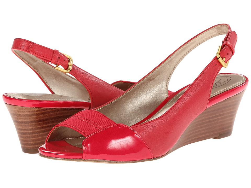 Circa Joan & David - Sandee (Red) Women's Wedge Shoes
