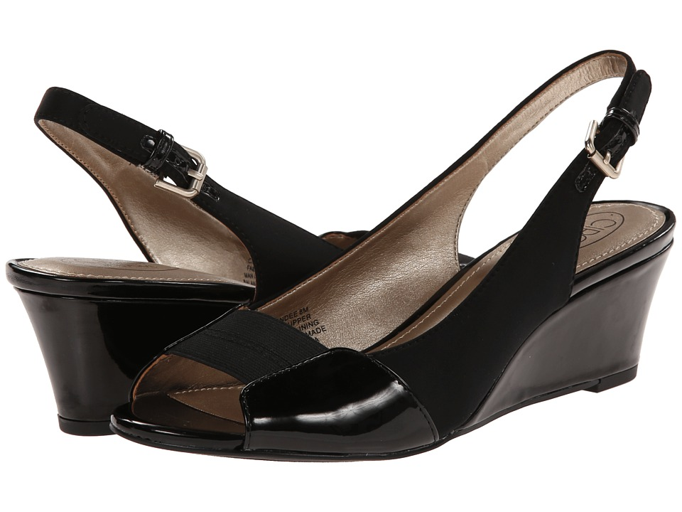 Circa Joan & David - Sandee (Black) Women's Wedge Shoes