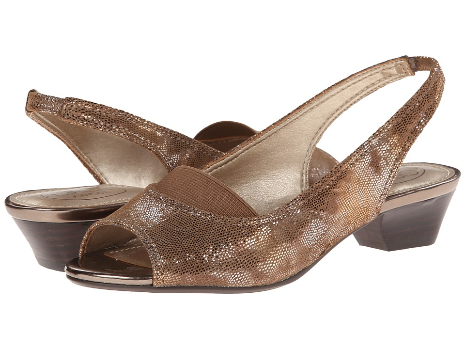 Circa Joan & David - Uri (Bronze) Women's Sling Back Shoes