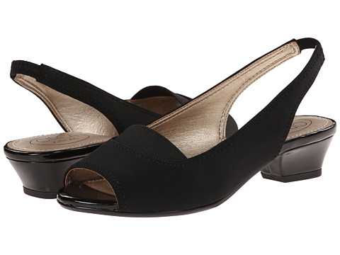 Circa Joan & David - Uri (Black) Women's Sling Back Shoes