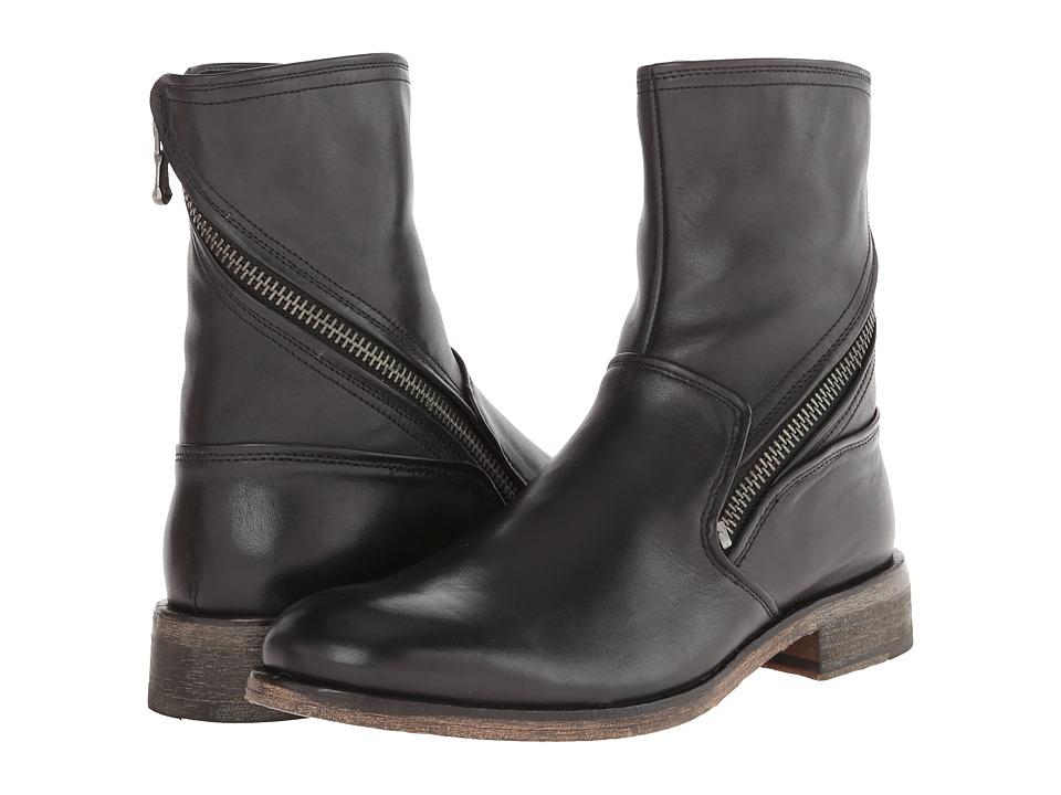 John Varvatos - Rocker Twisted Zip Boot (Black) Men's Dress Zip Boots