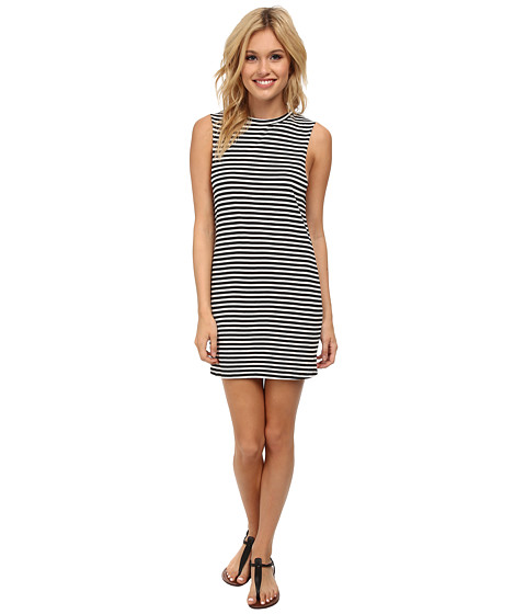 Billabong - Passer By Yarn Dye Dress (Black/White) Women's Dress