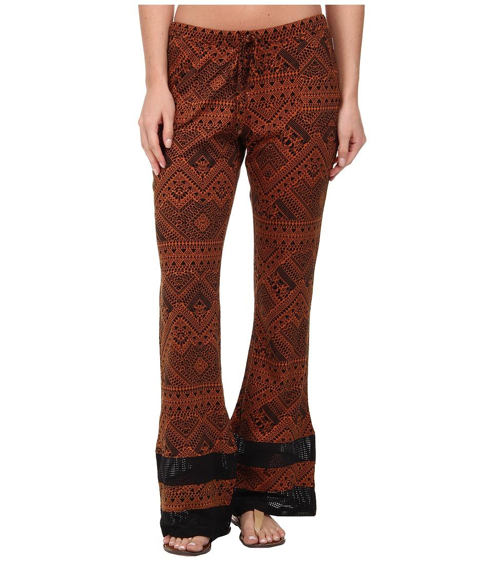 Element - Totem Wide Leg Pant (Rust) Women's Casual Pants plus size,  plus size fashion plus size appare