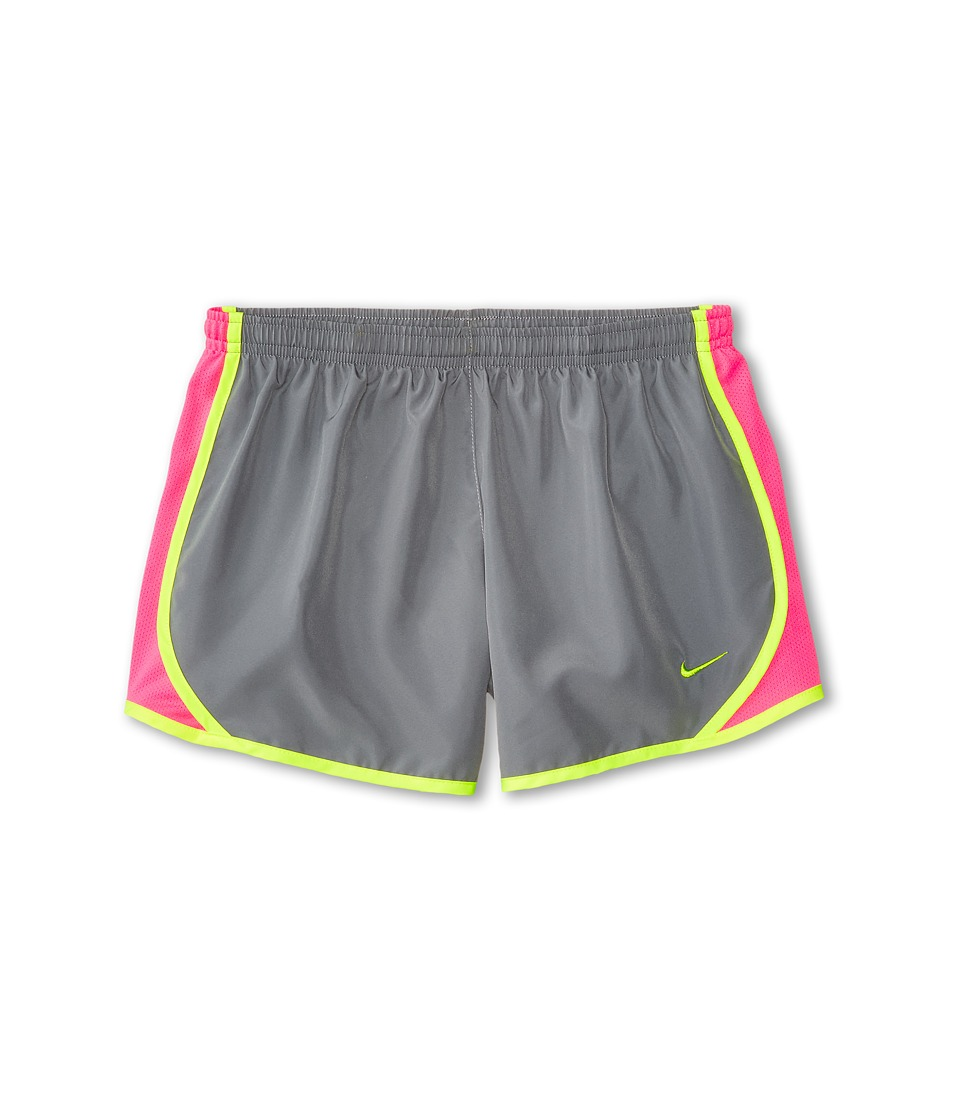 Nike Kids - Tempo Short (Little Kids/Big Kids) (Cool Grey/Pink Pow/Volt/Volt) Girl's Shorts