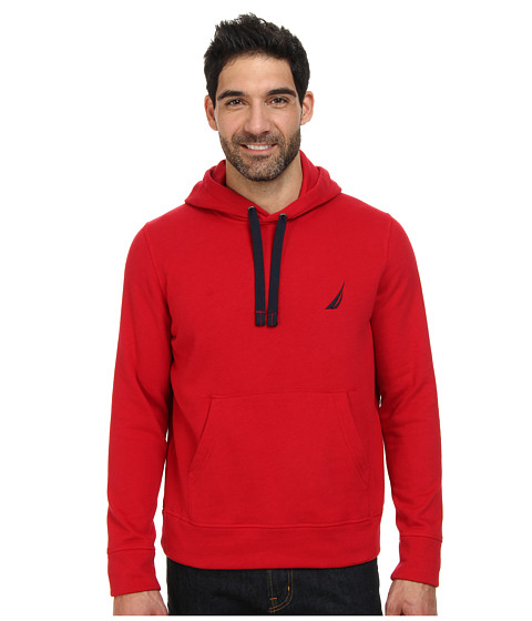 Nautica - Hooded Pullover (Nautica Red) Men's Sweatshirt