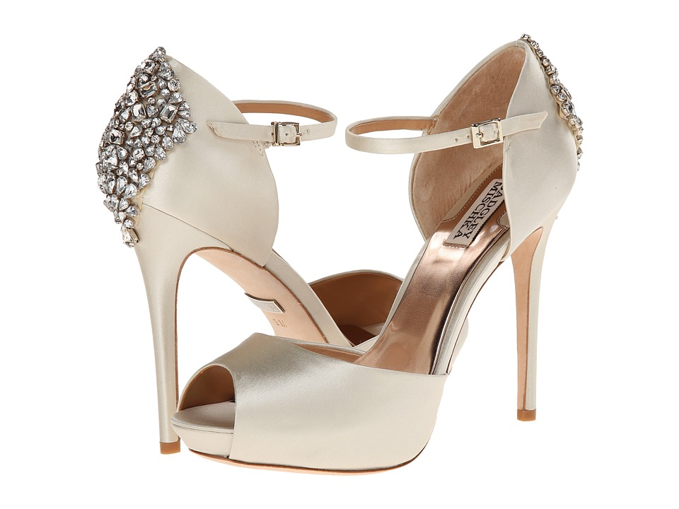 Badgley Mischka - Gene (Ivory Satin) High Heels