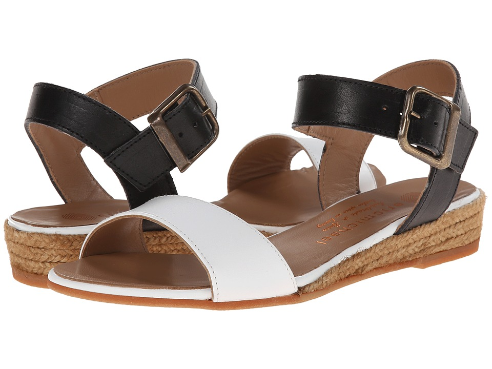 Eric Michael - Amanda (White/Black) Women's Sandals