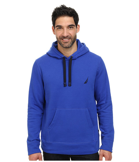 Nautica - Hooded Pullover (Counting Cobalt Blue) Men