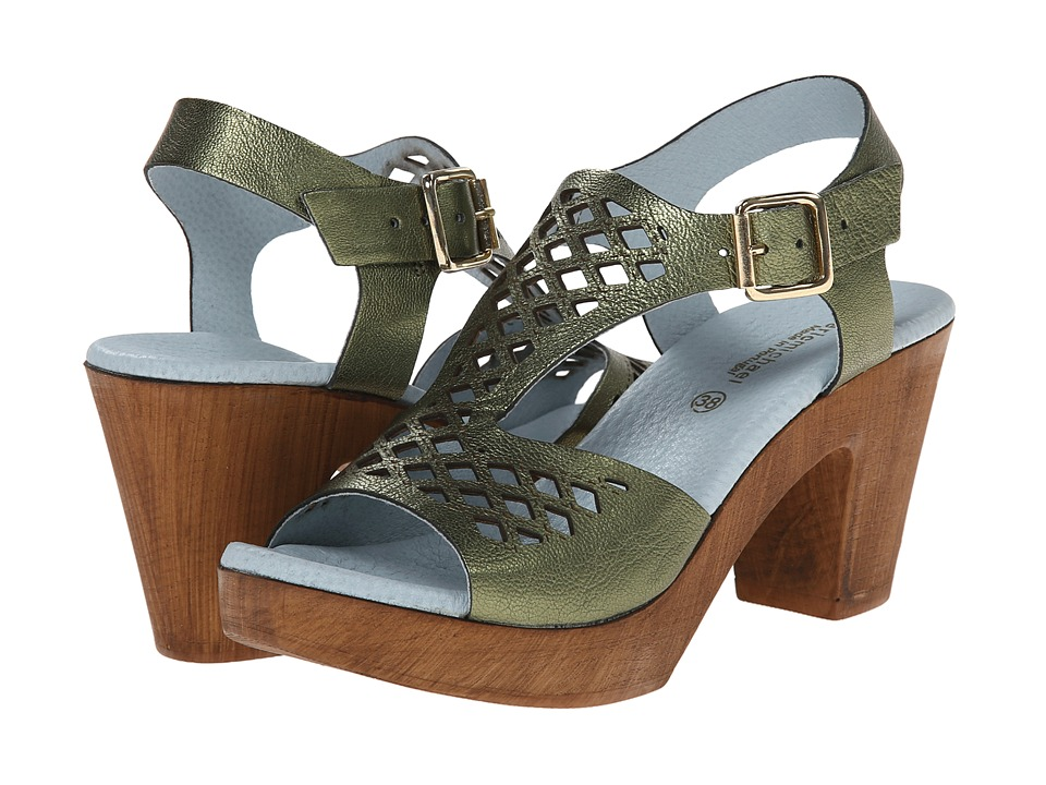 Eric Michael - Tyra (Green Metallic) Women's Shoes