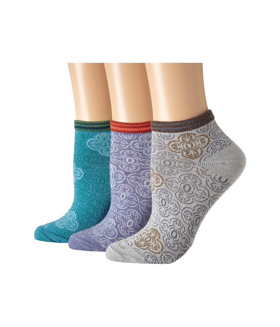 Goodhew - Foulard 3-Pack (Charcoal) Women's Crew Cut Socks Shoes