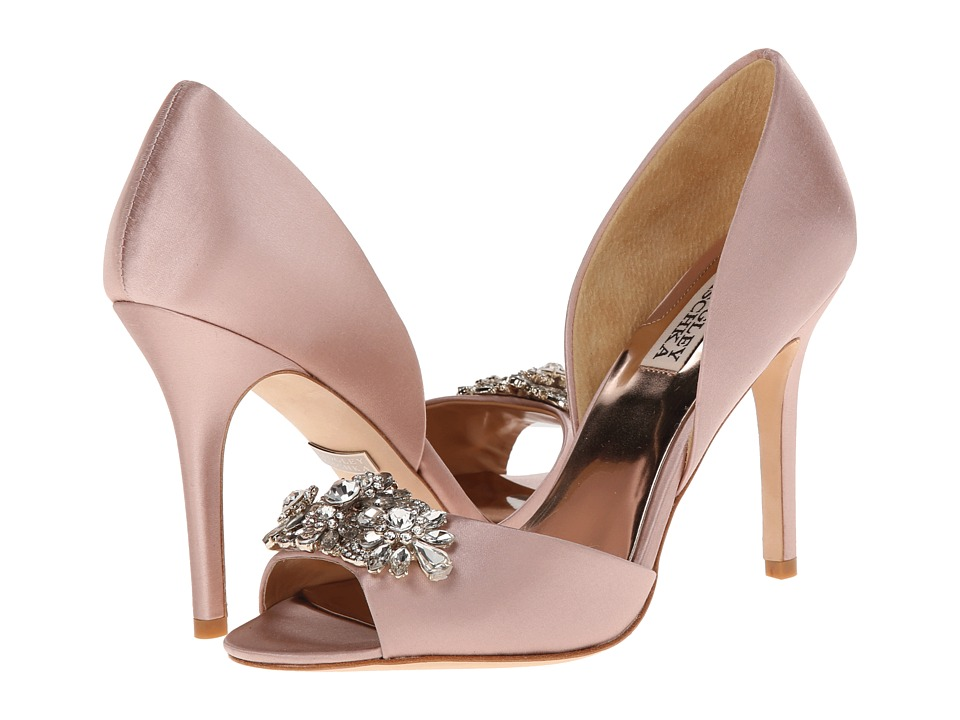 Badgley Mischka - Giana (Blush Satin) High Heels