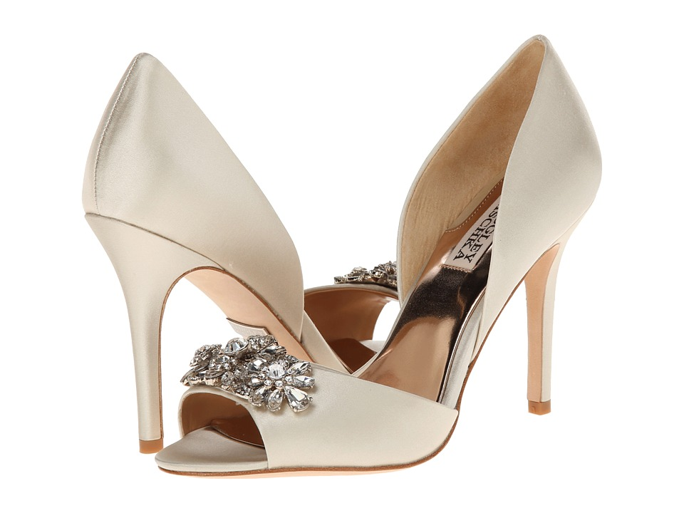 Badgley Mischka - Giana (Ivory Satin) High Heels