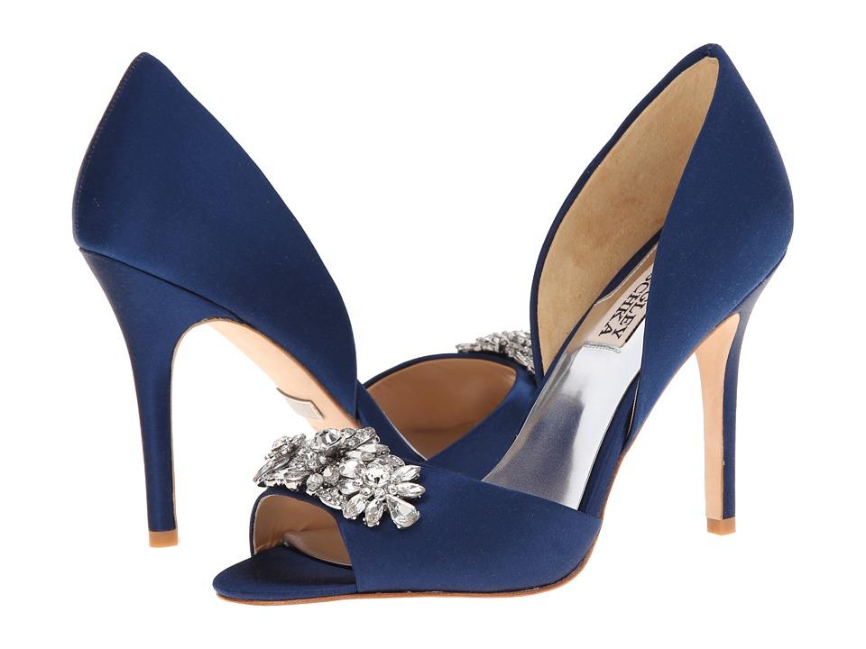 Badgley Mischka - Giana (Navy Satin) High Heels