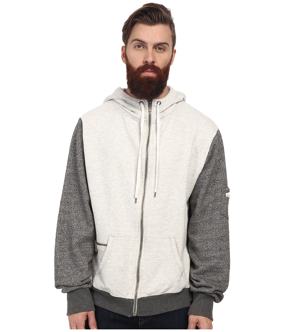 Members Only - Marled French Terry w/ Zip Hood (Grey) Men